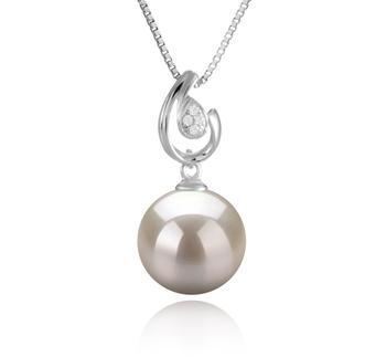10-11mm AAAA Quality Freshwater Cultured Pearl Pendant in Femke White