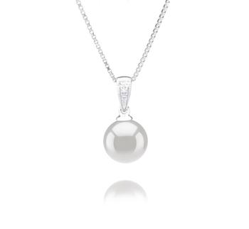 8-9mm AA Quality Japanese Akoya Cultured Pearl Pendant in Mosina White