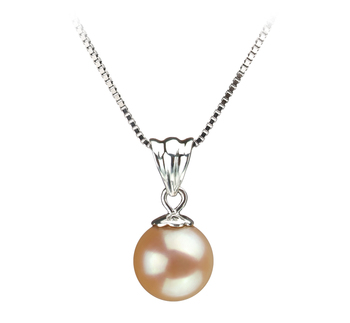 9-10mm AA Quality Freshwater Cultured Pearl Pendant in Nancy Pink