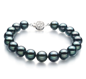 8.5-9mm AA Quality Japanese Akoya Cultured Pearl Bracelet in Black