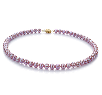 6-7mm AAA Quality Freshwater Cultured Pearl Necklace in Lavender