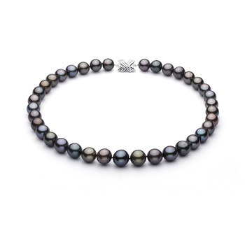 11.1-13.5mm AA+ Quality Tahitian Cultured Pearl Necklace in Multicolour
