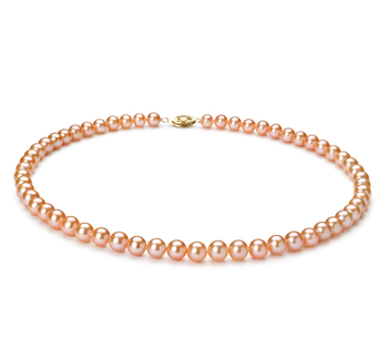 6-7mm AA Quality Freshwater Cultured Pearl Necklace in Pink