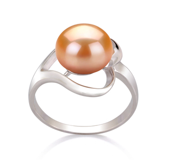 9-10mm AA Quality Freshwater Cultured Pearl Ring in Sadie Pink