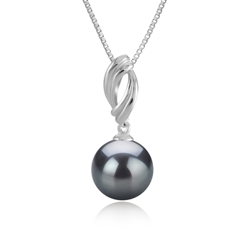 9-10mm AAA Quality Tahitian Cultured Pearl Pendant in Shamara Black
