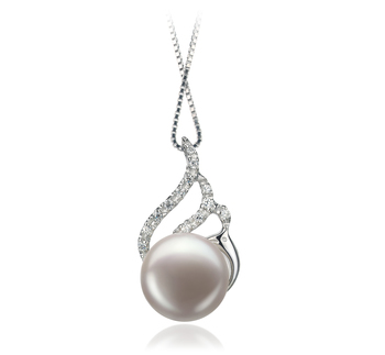 12-13mm AA Quality Freshwater Cultured Pearl Pendant in Tracy White