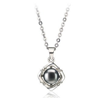 6-7mm AA Quality Freshwater Cultured Pearl Pendant in Vera Black