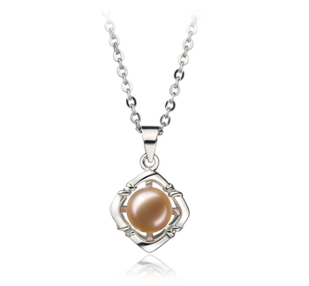 6-7mm AA Quality Freshwater Cultured Pearl Pendant in Vera Pink