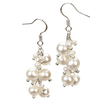 3-7mm A Quality Freshwater Cultured Pearl Earring Pair in Brisa White