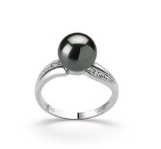 8-9mm AAA Quality Tahitian Cultured Pearl Ring in Caroline Black