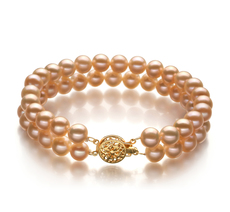 6-7mm AA Quality Freshwater Cultured Pearl Bracelet in Lee Pink