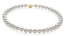 8.5-9mm Hanadama - AAAA Quality Japanese Akoya Cultured Pearl Necklace in White