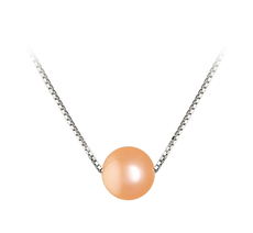 8-9mm AA Quality Freshwater Cultured Pearl Pendant in Madison Pink