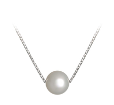 8-9mm AA Quality Freshwater Cultured Pearl Pendant in Madison White