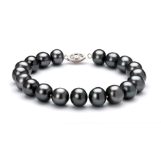 8.5-9mm AA Quality Freshwater Cultured Pearl Bracelet in Black