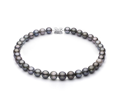 11.1-13.4mm AAA Quality Tahitian Cultured Pearl Necklace in Multicolour