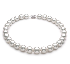 14-17mm AAA Quality South Sea Cultured Pearl Necklace in White