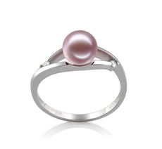 6-7mm AAAA Quality Freshwater Cultured Pearl Ring in Tanya Lavender