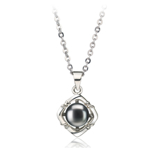 6-7mm AA Quality Freshwater Cultured Pearl Pendant in Black