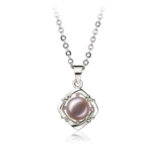 6-7mm AA Quality Freshwater Cultured Pearl Pendant in Lavender
