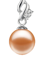 Pink Color Pearl Pendants