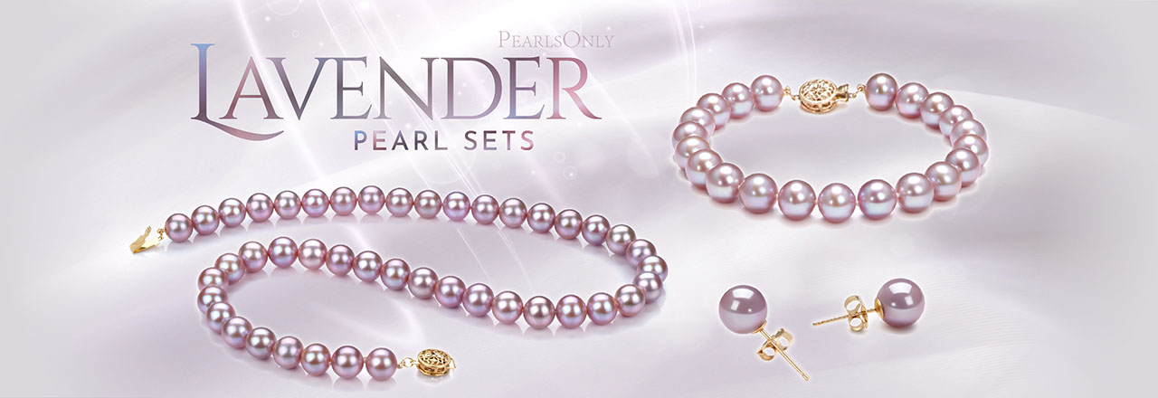 PearlsOnly Lavender Pearl Sets